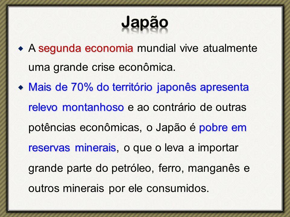 Japão A segunda economia mundial vive atualmente uma grande crise econômica.