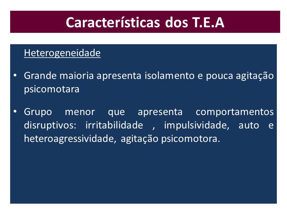 Características dos T.E.A