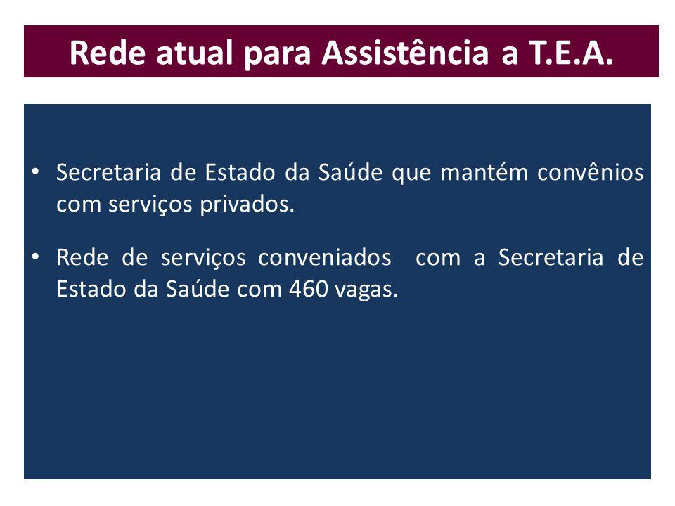 Rede atual para Assistência a T.E.A.