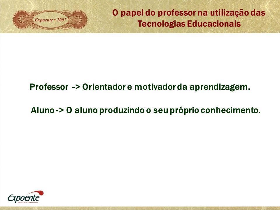 O papel do professor na utilização das Tecnologias Educacionais