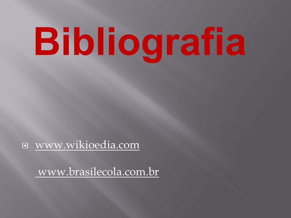 Bibliografia www.wikioedia.com www.brasilecola.com.br