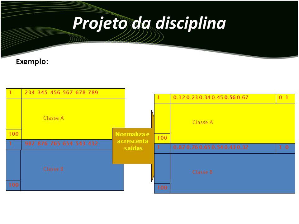 Projeto da disciplina Exemplo: Normaliza e acrescenta saídas