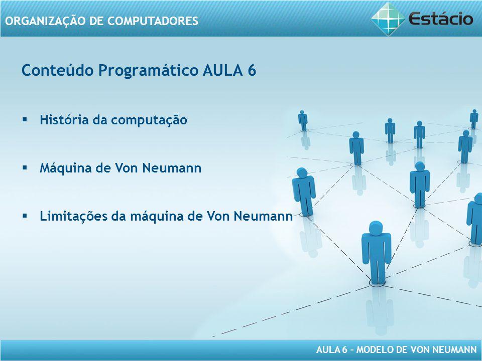 Conteúdo Programático AULA 6