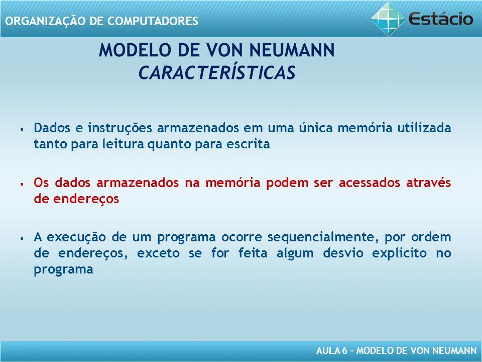 MODELO DE VON NEUMANN CARACTERÍSTICAS