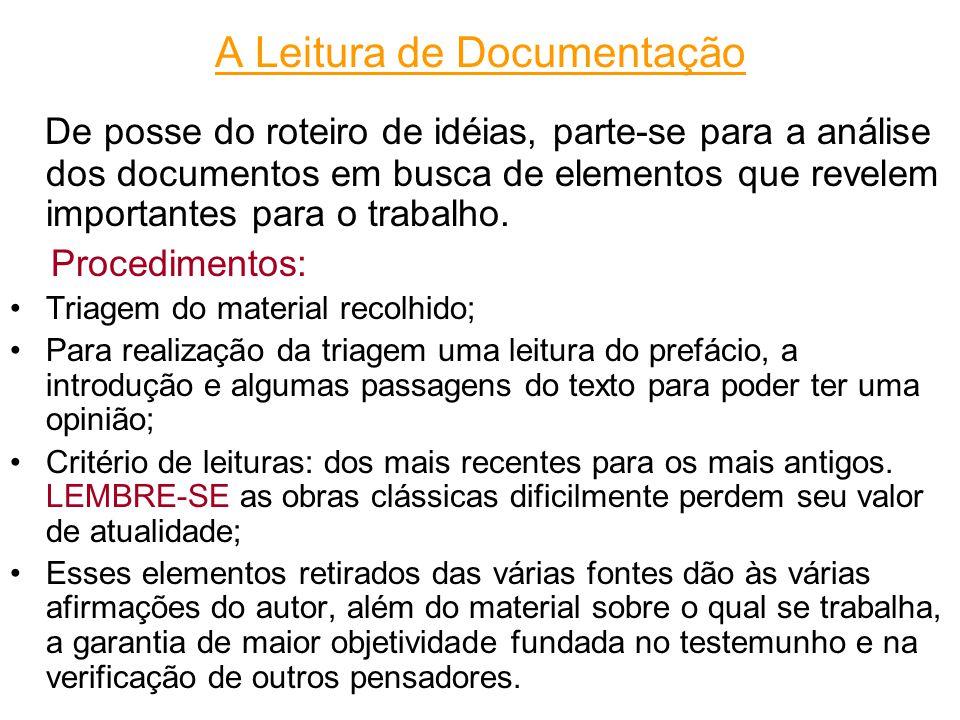 A Leitura de Documentação