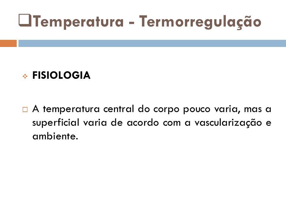 Temperatura - Termorregulação