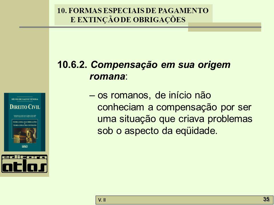 10.6.2. Compensação em sua origem romana: