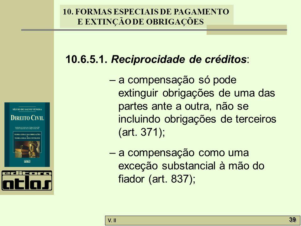 10.6.5.1. Reciprocidade de créditos: