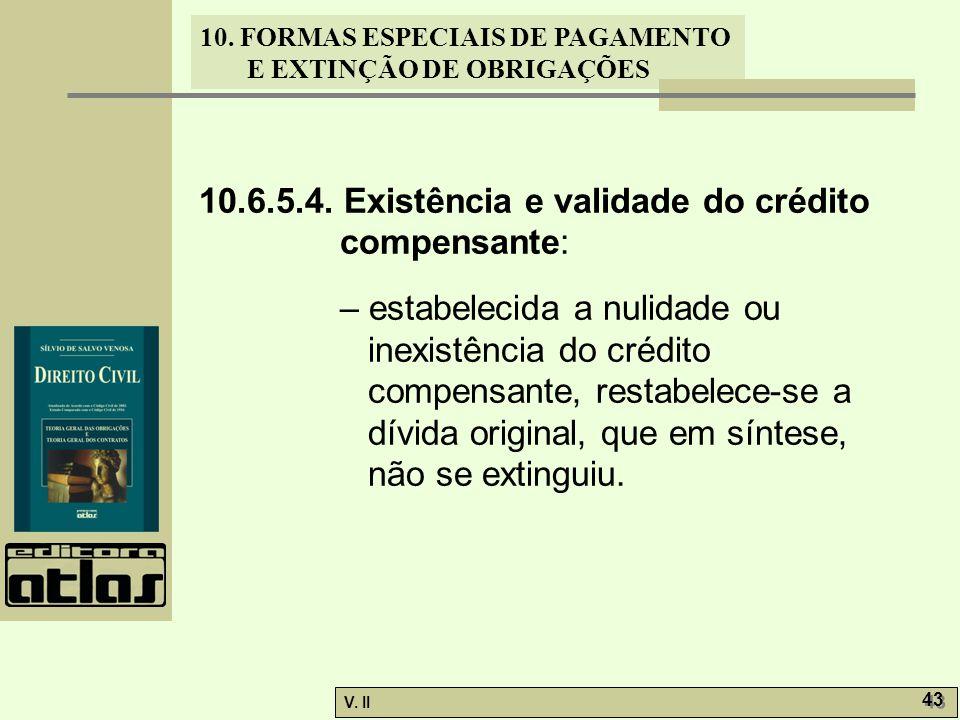 10.6.5.4. Existência e validade do crédito compensante: