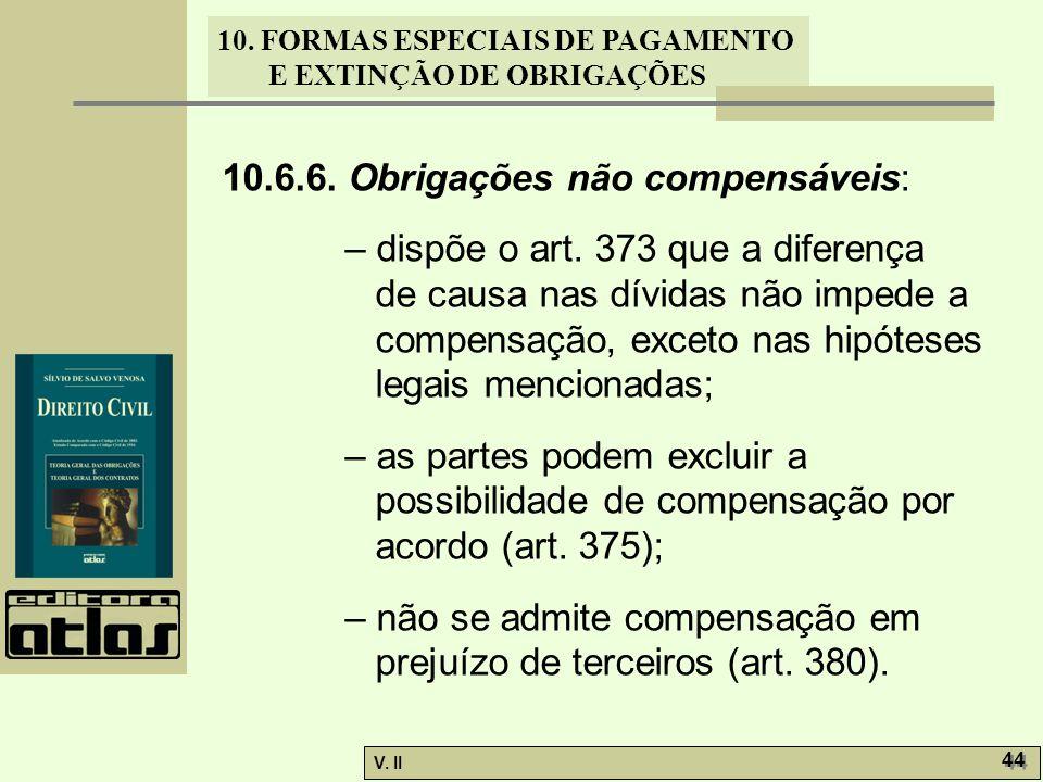10.6.6. Obrigações não compensáveis: