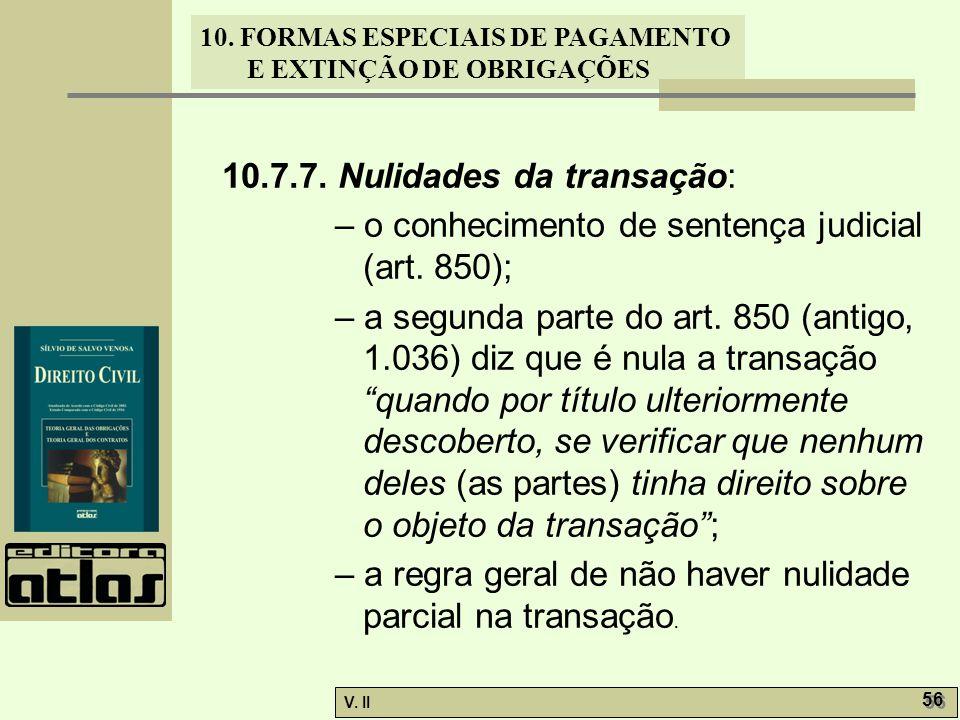 10.7.7. Nulidades da transação: