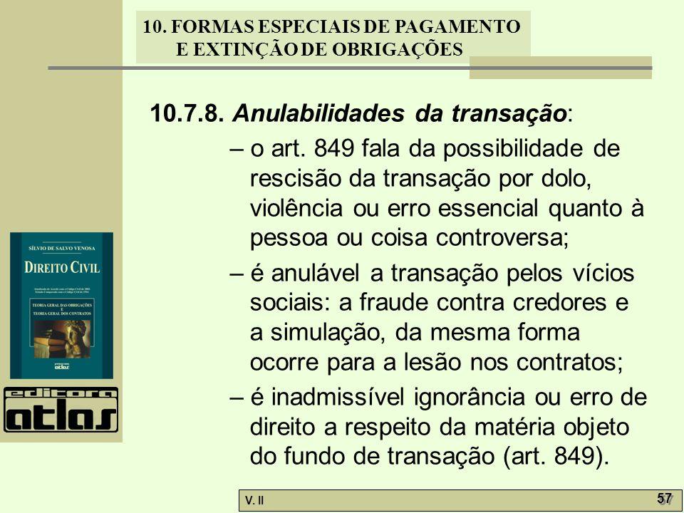 10.7.8. Anulabilidades da transação: