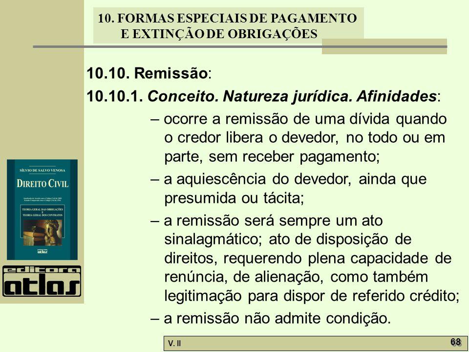 10.10. Remissão: 10.10.1. Conceito. Natureza jurídica. Afinidades: