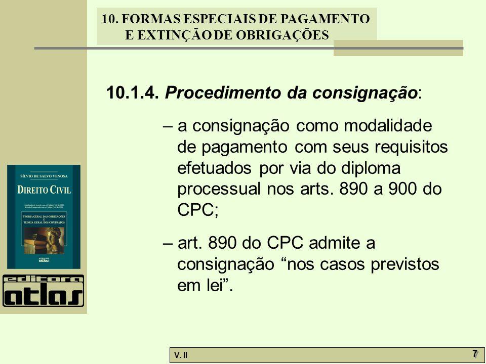 10.1.4. Procedimento da consignação: