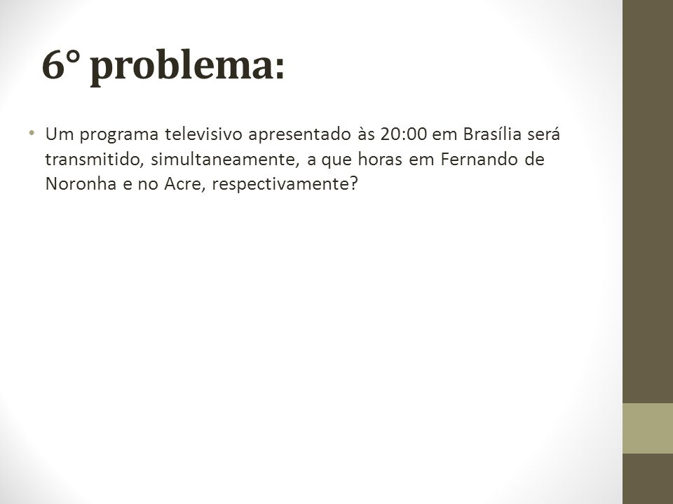 6° problema: