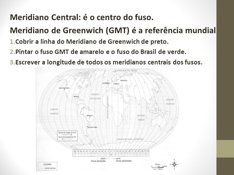 Meridiano Central: é o centro do fuso.