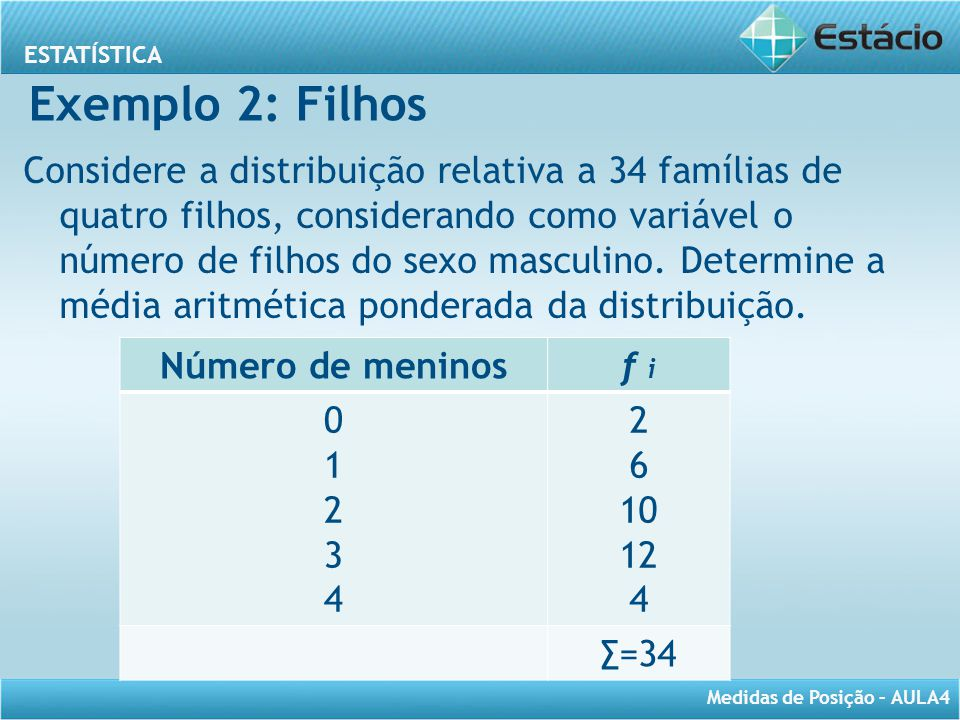 Exemplo 2: Filhos