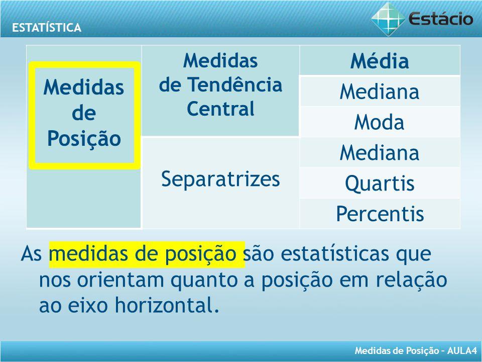 Medidas de Posição Média
