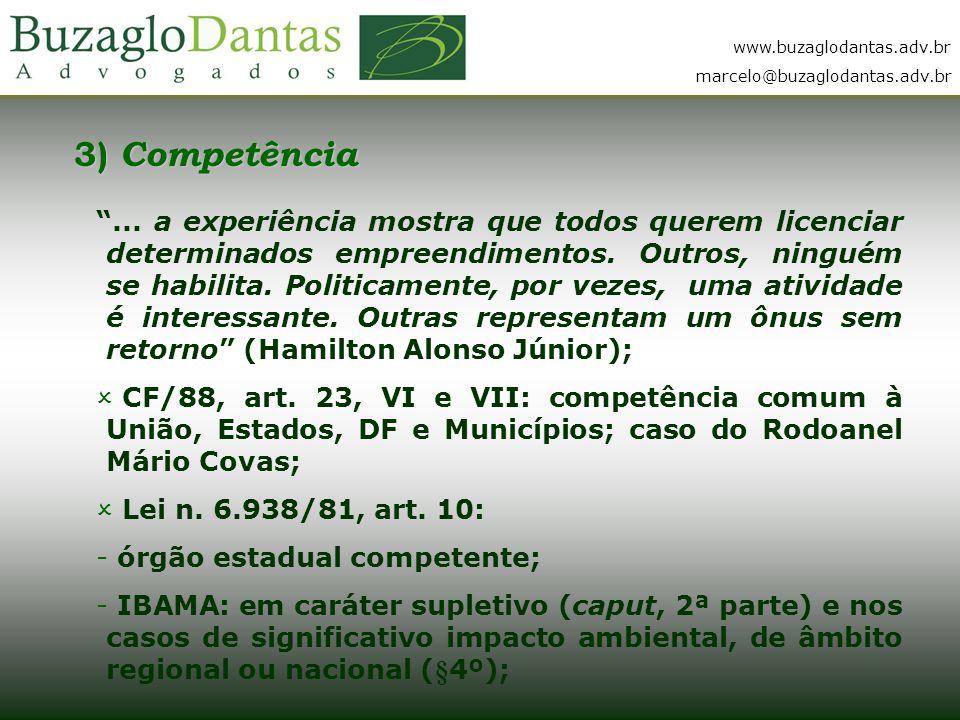3) Competência