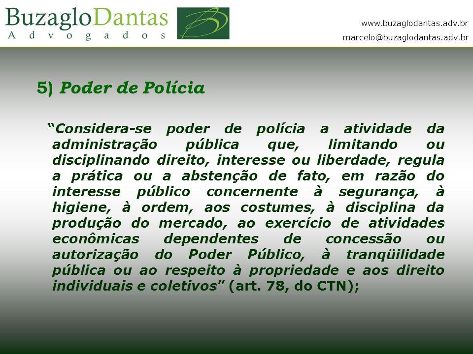 5) Poder de Polícia