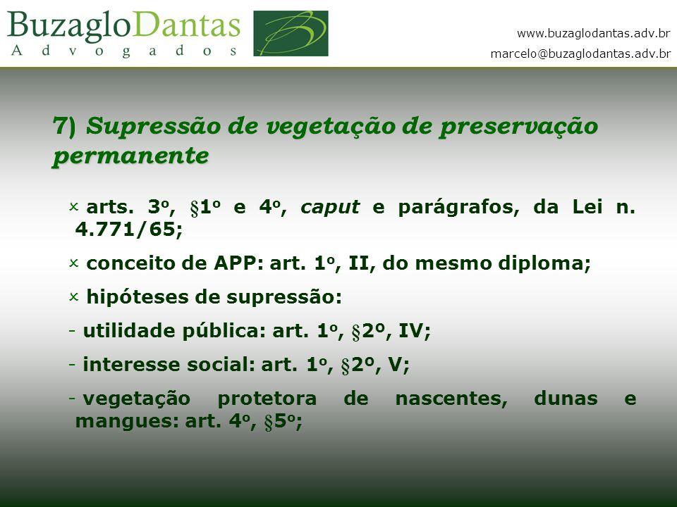 7) Supressão de vegetação de preservação permanente