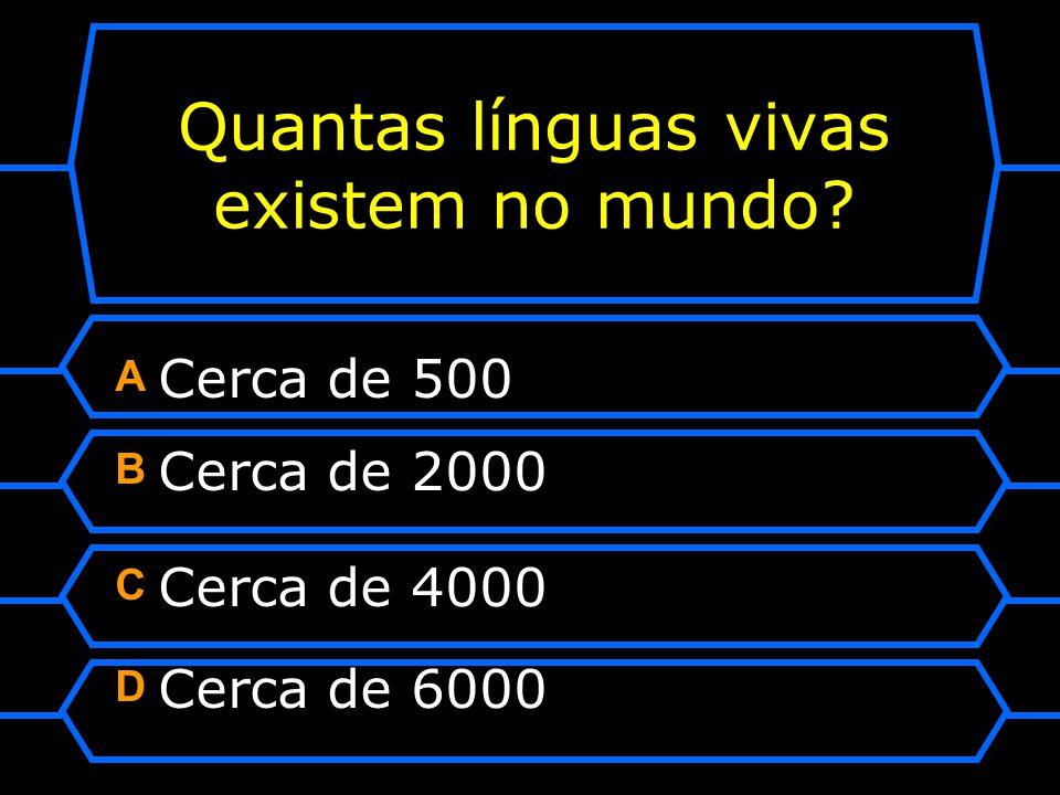 Quantas línguas vivas existem no mundo