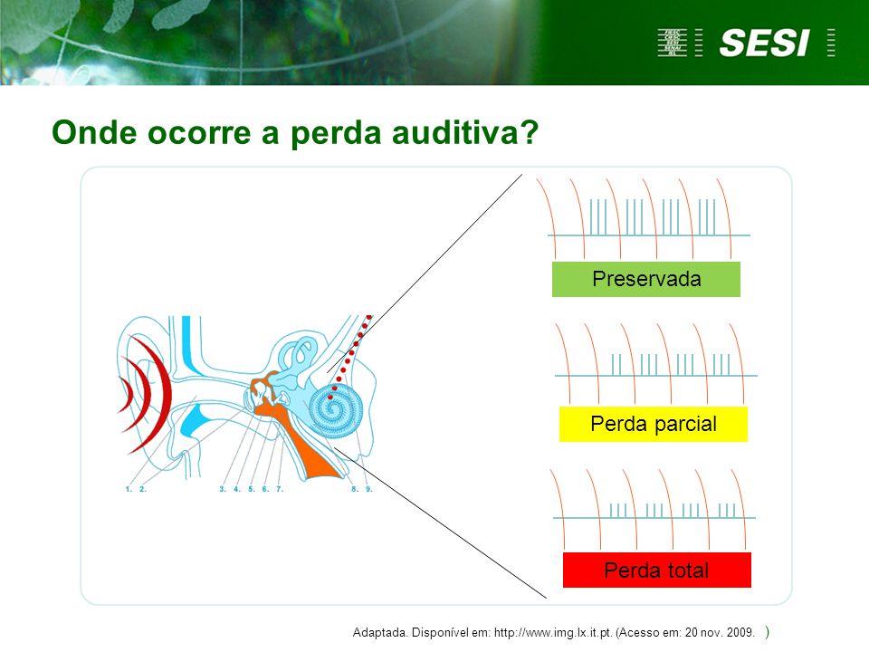 Onde ocorre a perda auditiva