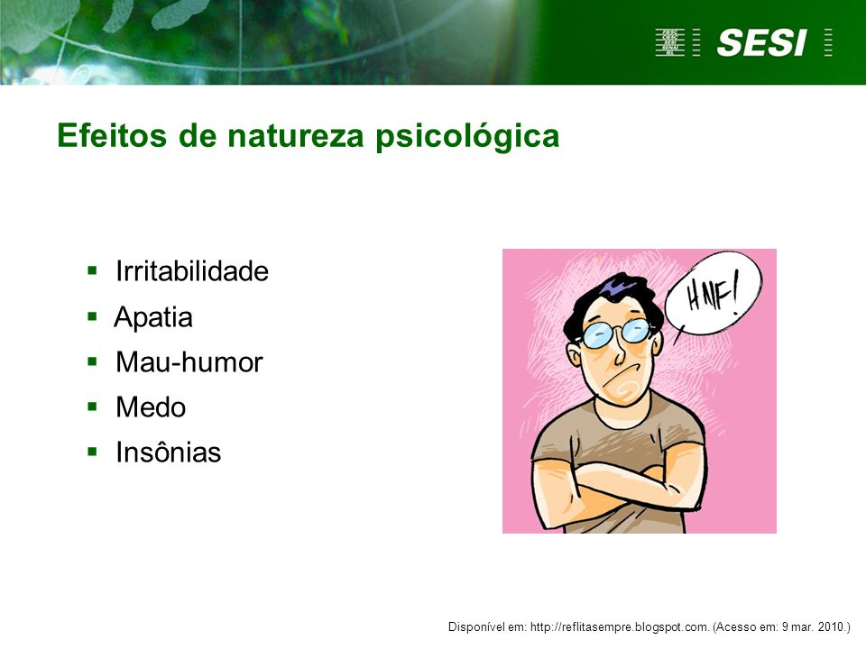 Efeitos de natureza psicológica
