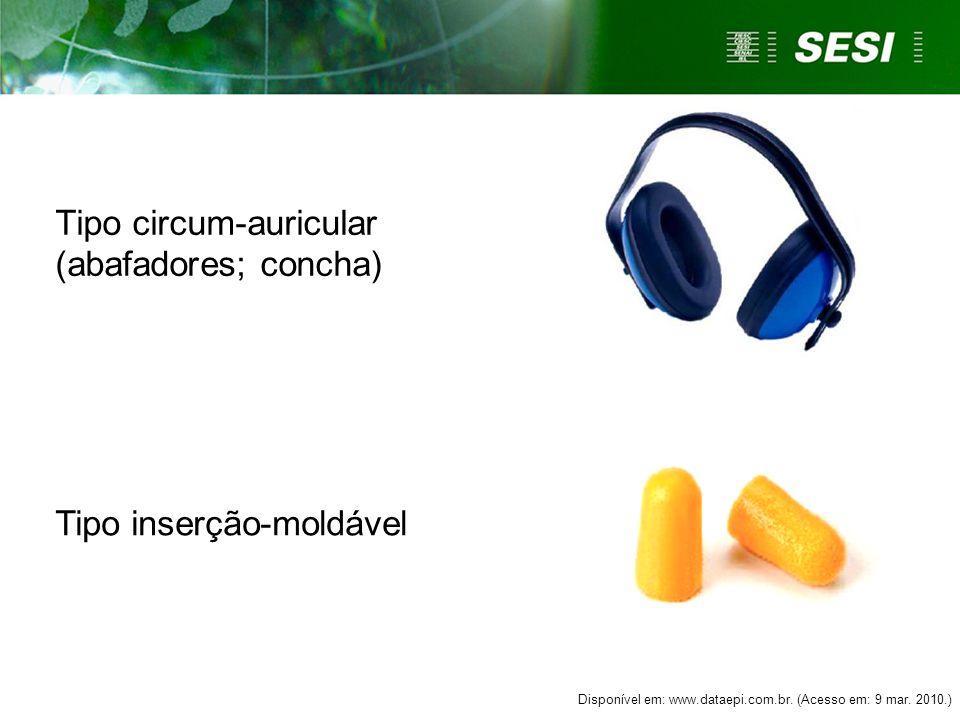 Tipo circum-auricular (abafadores; concha)