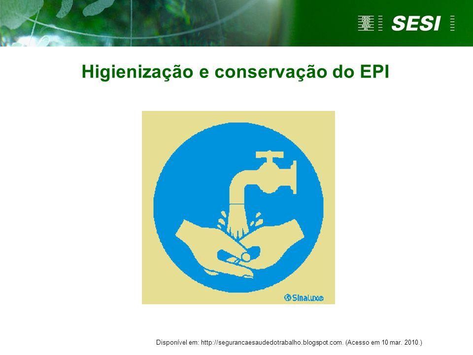 Higienização e conservação do EPI