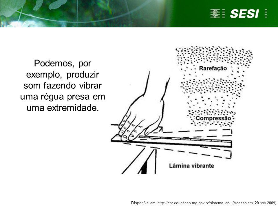Podemos, por exemplo, produzir som fazendo vibrar uma régua presa em uma extremidade.