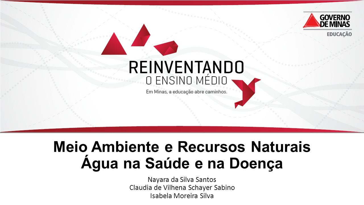 Meio Ambiente e Recursos Naturais Água na Saúde e na Doença