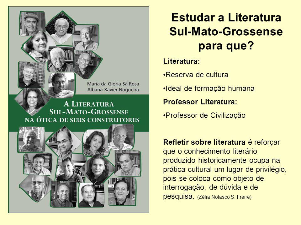 Estudar a Literatura Sul-Mato-Grossense para que