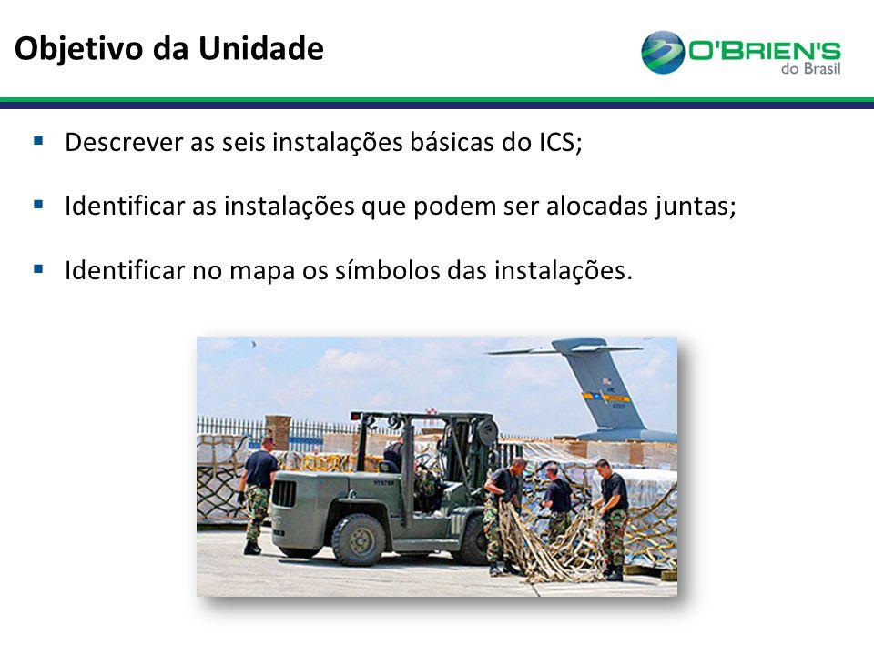 Objetivo da Unidade Descrever as seis instalações básicas do ICS;