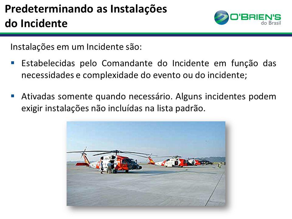 Predeterminando as Instalações do Incidente