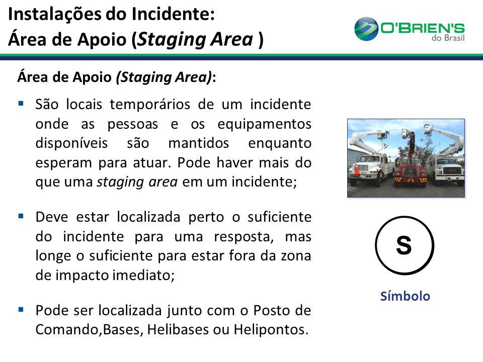 Instalações do Incidente: Área de Apoio (Staging Area )