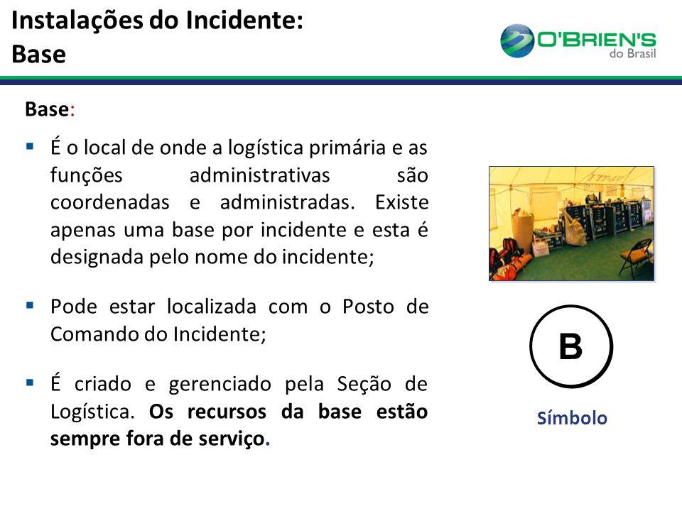 Instalações do Incidente: Base