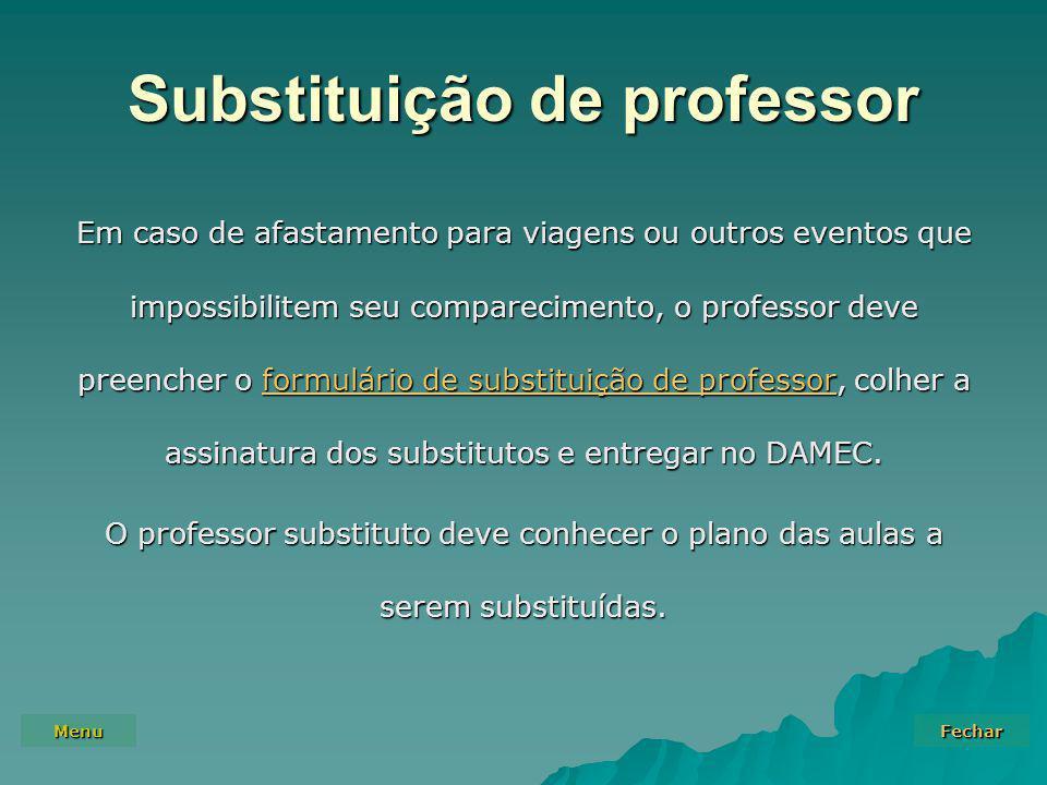 Substituição de professor