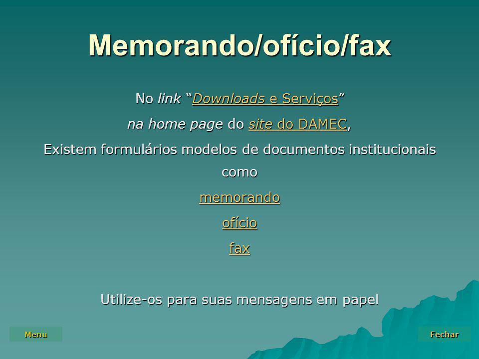 Memorando/ofício/fax