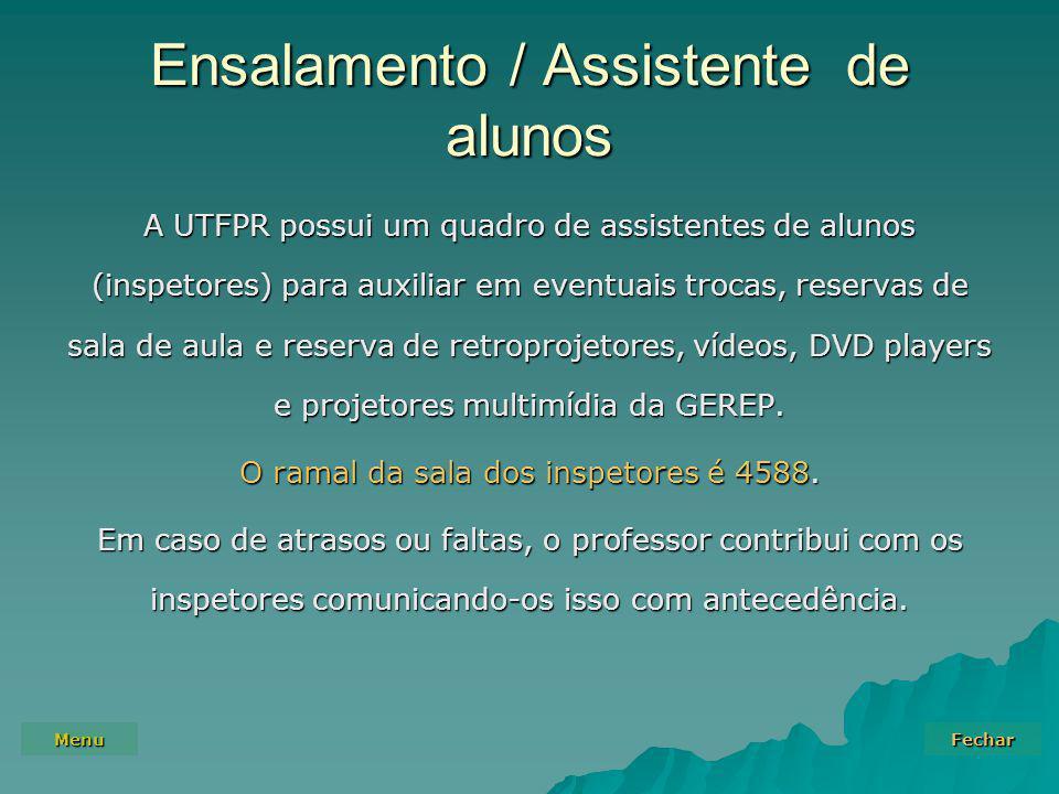 Ensalamento / Assistente de alunos