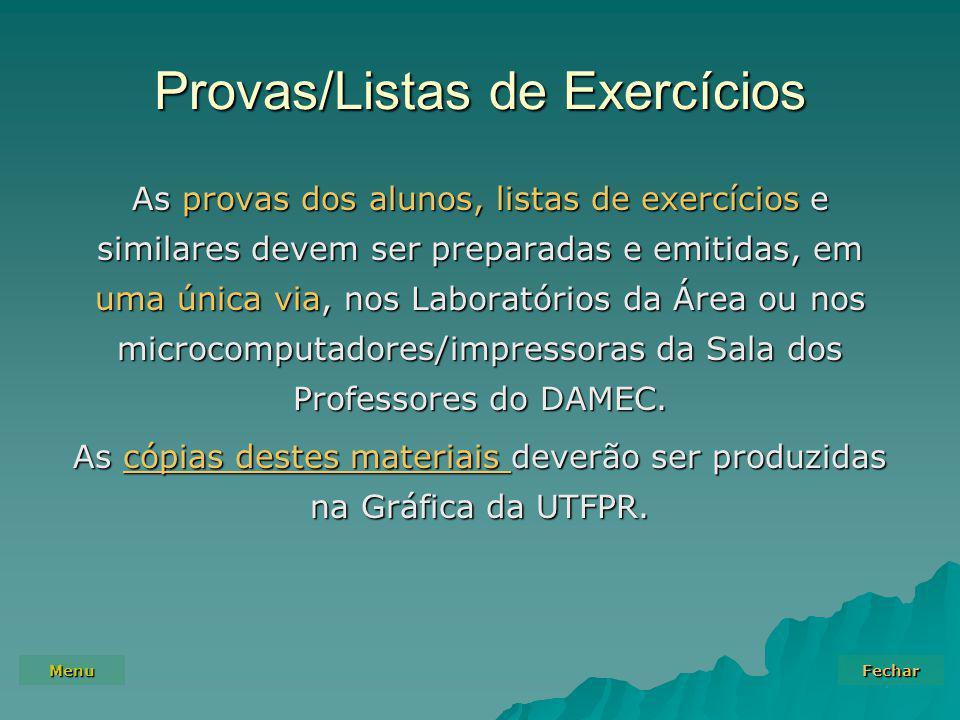 Provas/Listas de Exercícios