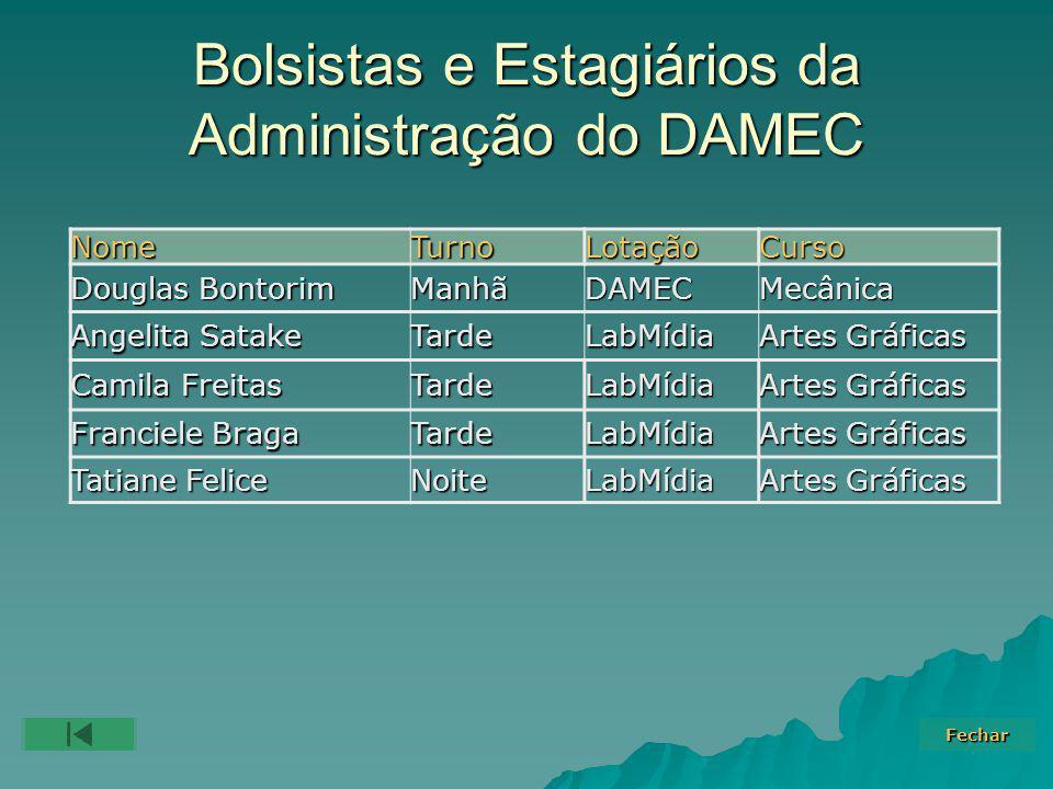 Bolsistas e Estagiários da Administração do DAMEC