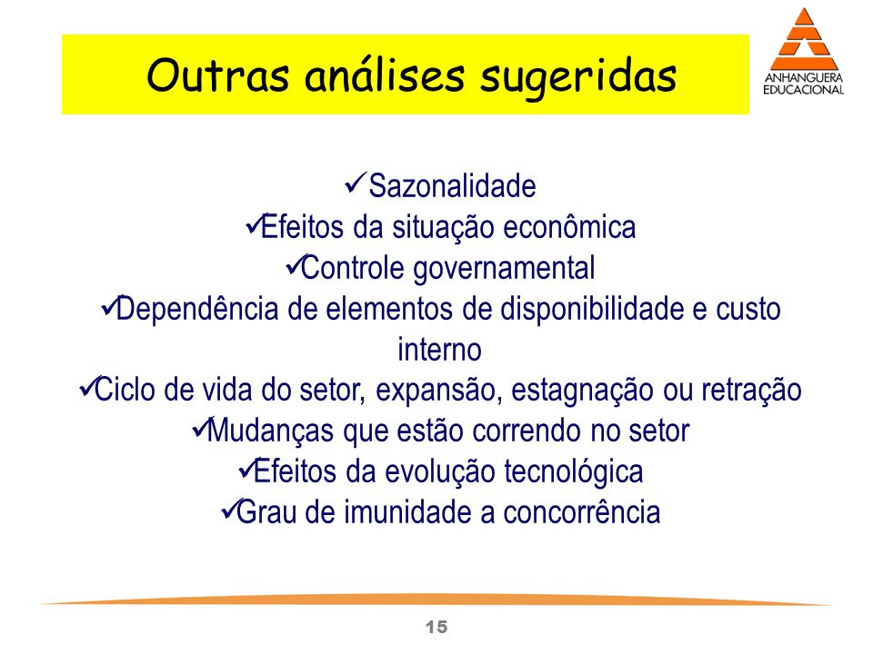 Outras análises sugeridas