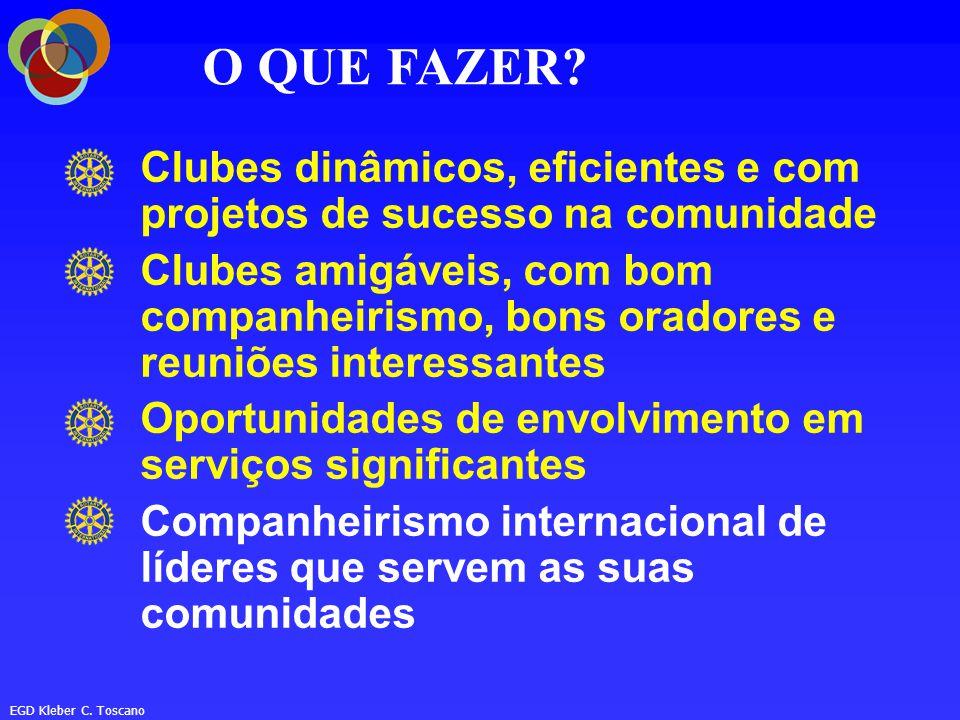 O QUE FAZER Clubes dinâmicos, eficientes e com projetos de sucesso na comunidade.