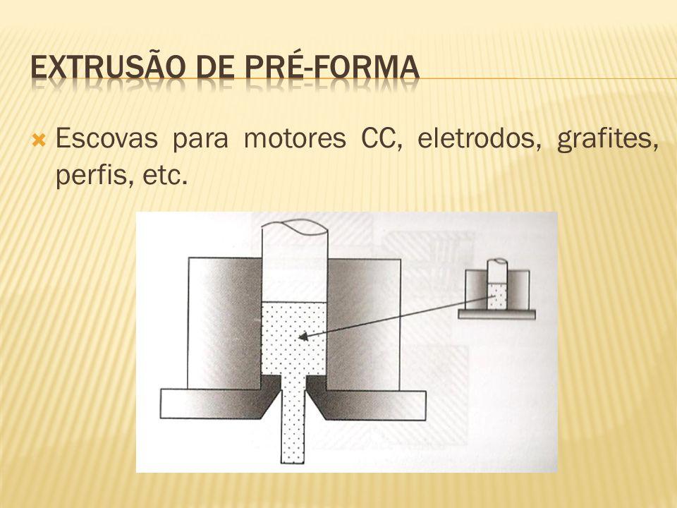 Extrusão de pré-forma Escovas para motores CC, eletrodos, grafites, perfis, etc.