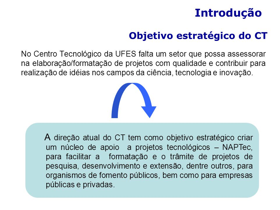 Objetivo estratégico do CT