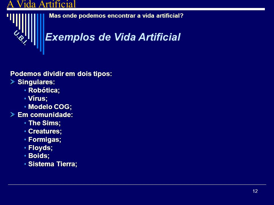 Exemplos de Vida Artificial