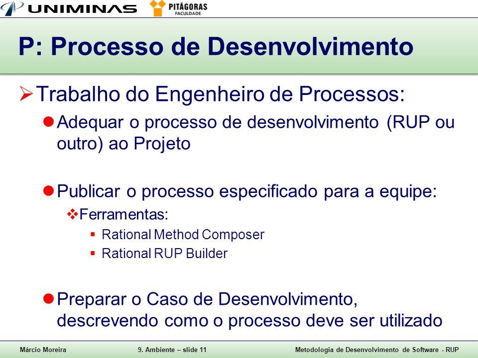 P: Processo de Desenvolvimento