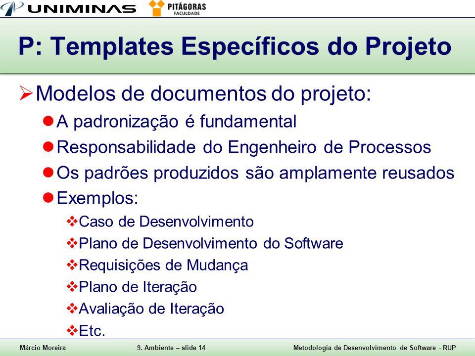 P: Templates Específicos do Projeto