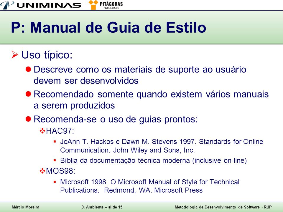 P: Manual de Guia de Estilo